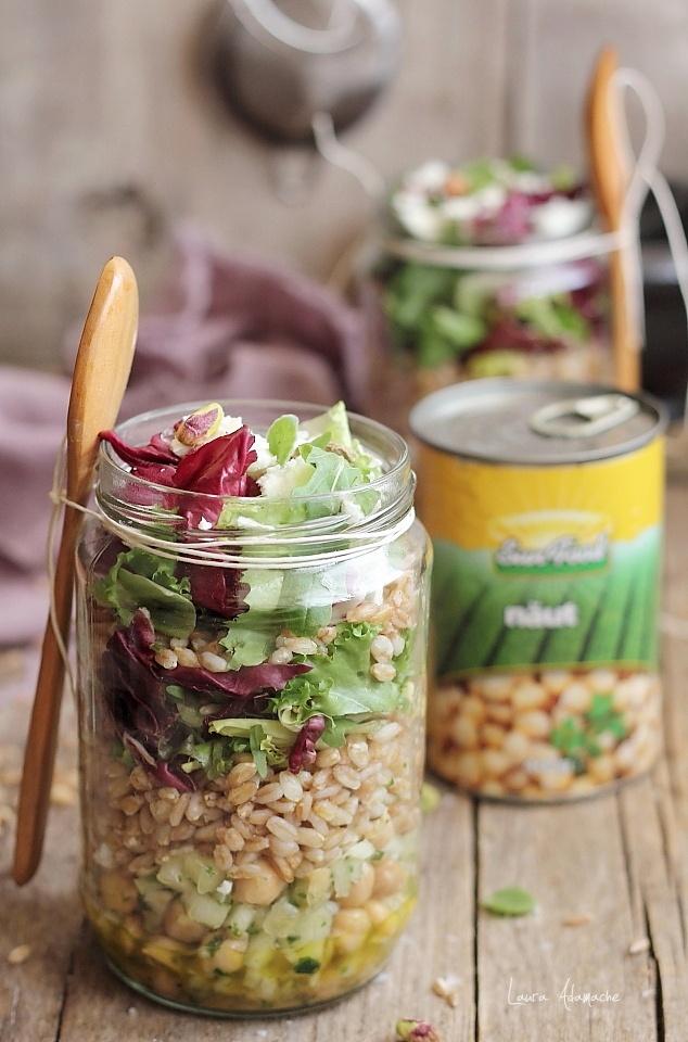 Salata la borcan cu naut Sun Food si alac