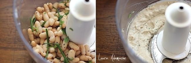 Bruschette  cu crema de fasole boabe preparare