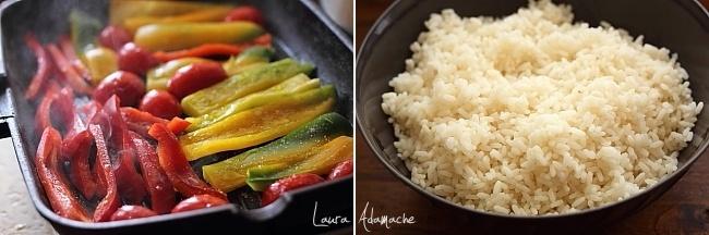Salata de orez si legume preparare