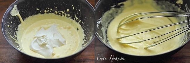 Tiramisu cu ananas preparare crema