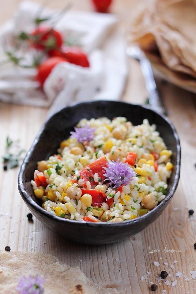 Salata de orez si legume fripte pe gratar