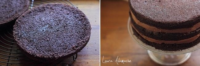 Asamblare tort de ciocolata rapid