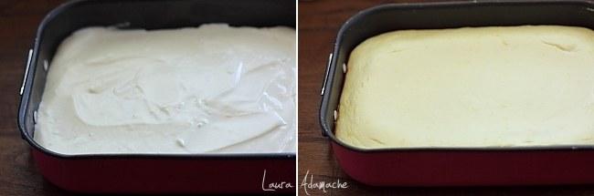 Cheesecake cu napolitane detaliu preparare
