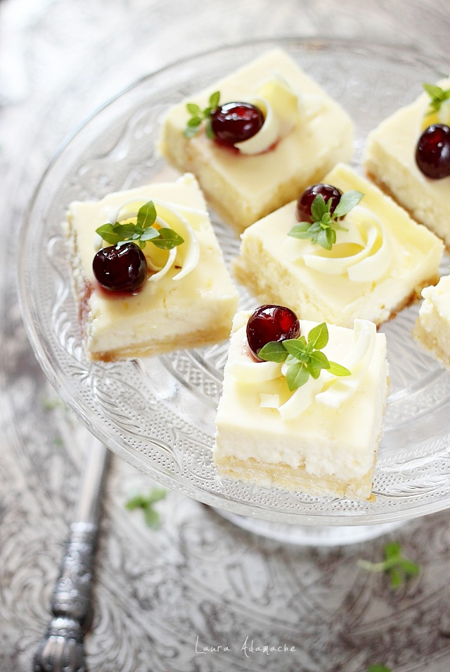Cheesecake cu napolitane detaliu