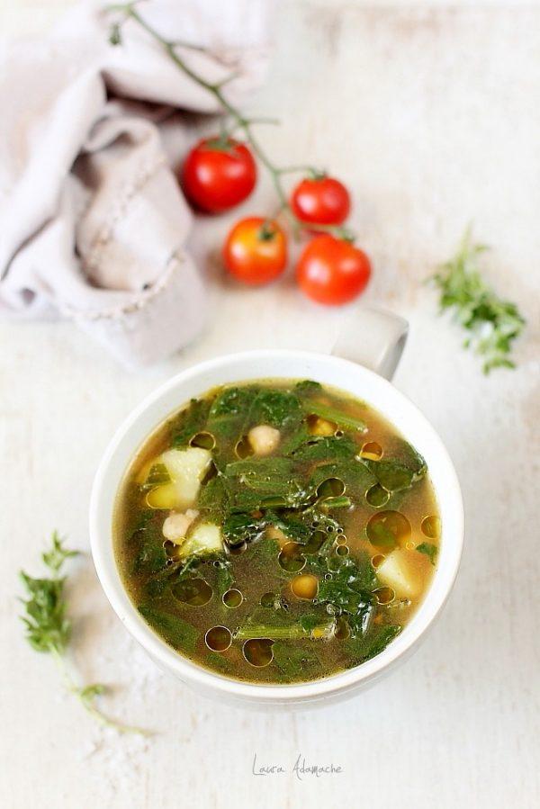 Supa cu naut si spanac
