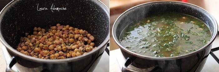 Supa de spanac si naut preparare