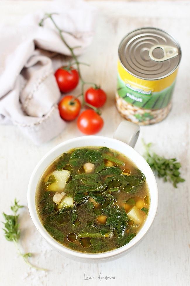 Supa de spanac si naut detaliu