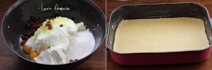 Preparare Placinta cu branza d vaci si stafide