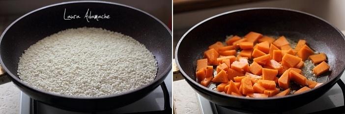 Risotto cu dovleac si gorgonzola preparare