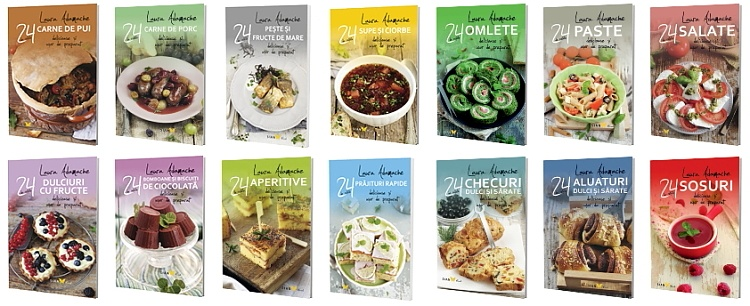 Serie carti 24 retete delicioase si uor de preparat Laura Adamache