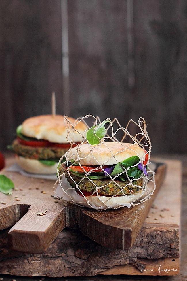 Hamburger cu ton RIO Mare si linte - detaliu final