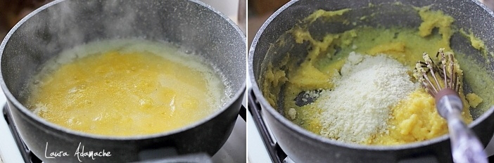 Preparare mamaliga mini tarte