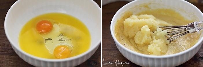 Prajitura insiropata cu ananas si frisca preparare