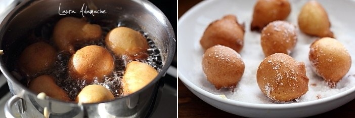 Castagnole gogosi turnate prajire