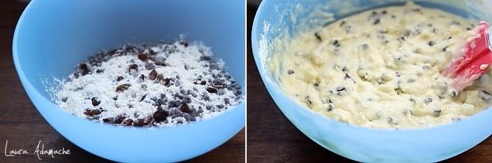 Muffins cu ananas si stafide preparare