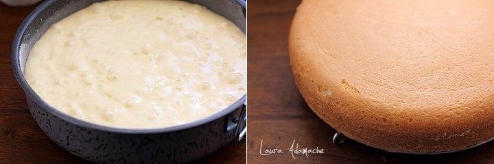 Tort Mimoza preparare pandispan pufos