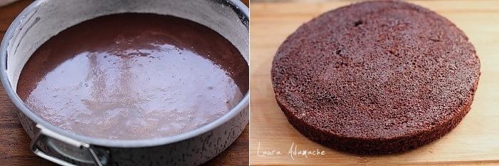 Tort de ciocolata cu capsune preparare blat