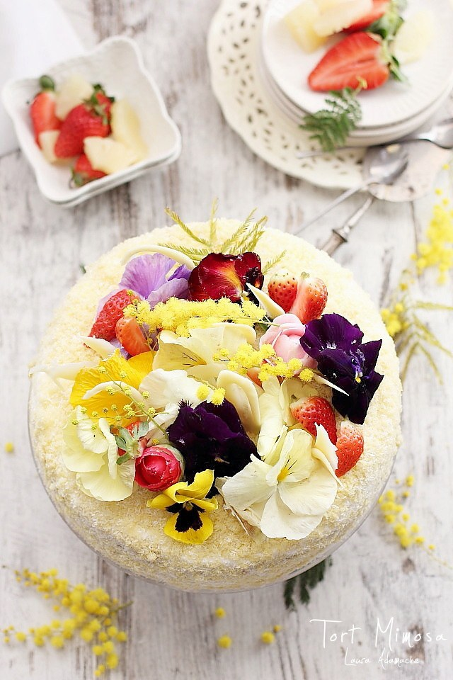 Tort Mimoza detaliu