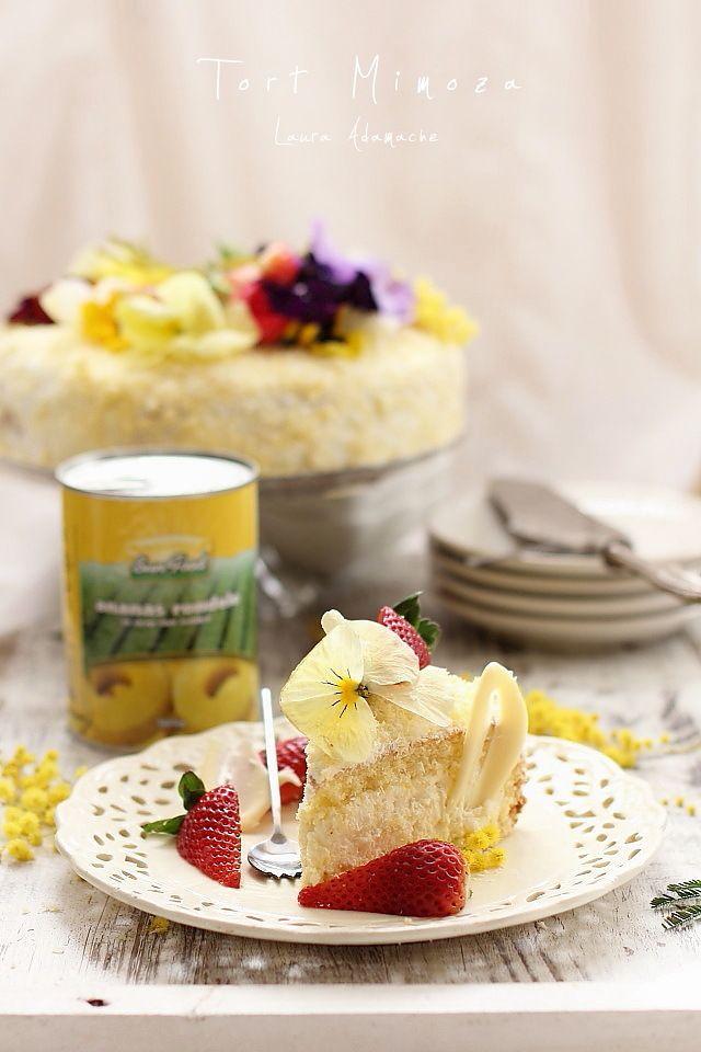 Tort Mimoza sectiune