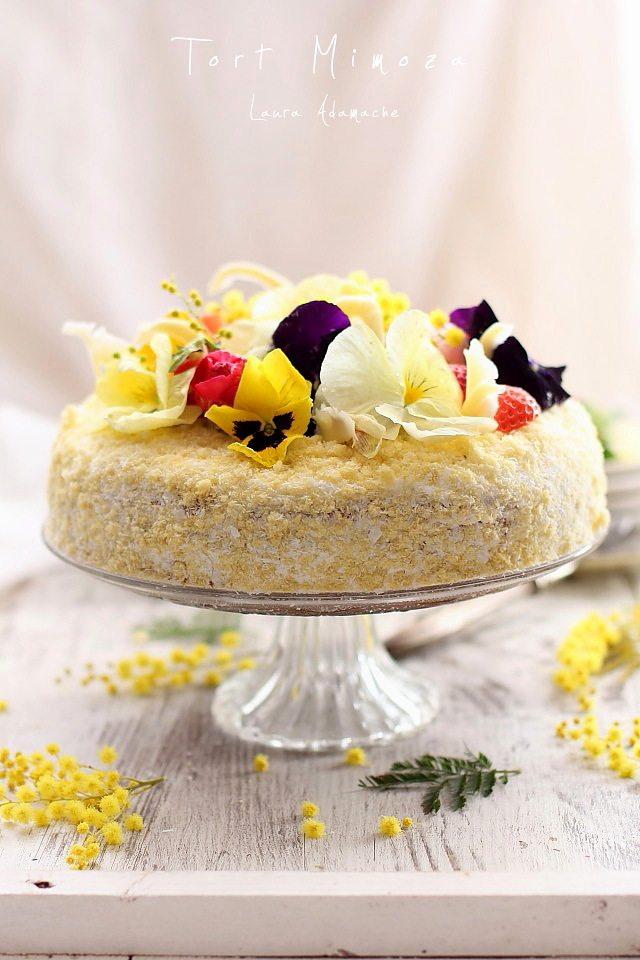 Tort Mimoza pe platou