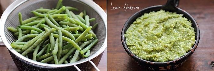 Bruschette cu pesto de fasole verde si macrou preparare