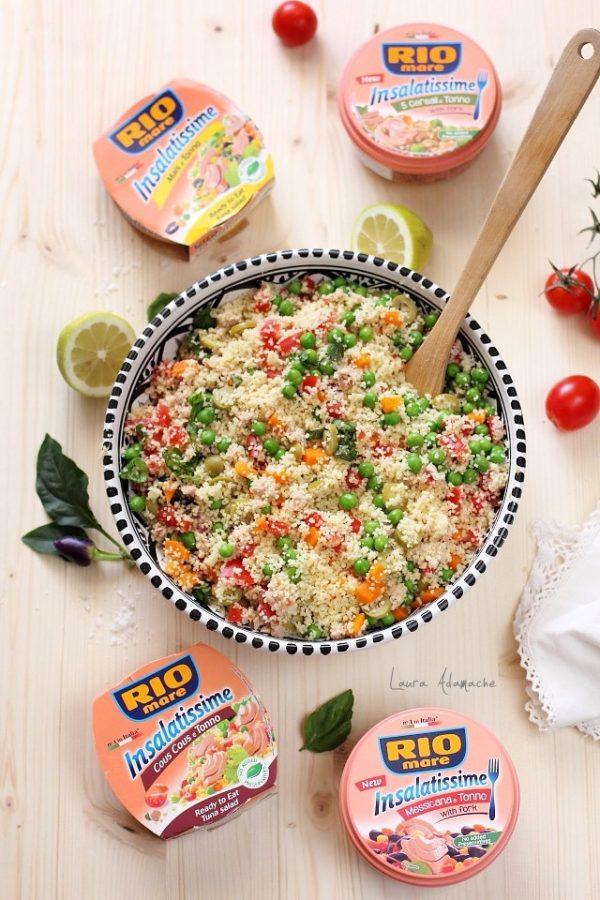 Salata cu couscous si ton