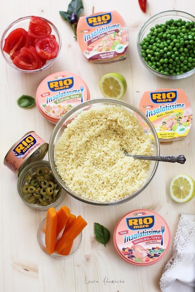 Salata cu couscous si ton preparare