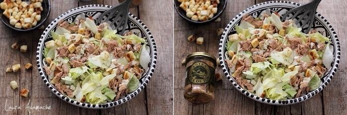 Salata de vara cu ton detaliu
