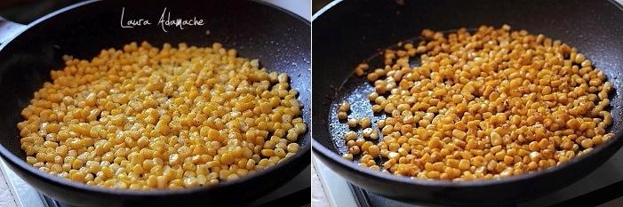 Crostini cu porumb si crema de branza preparare