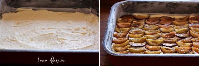 Prajitura cu prune si crumble cu alune in tava