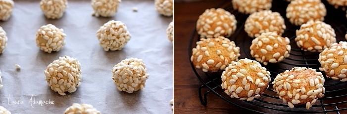 Biscuiti cu orez expandat si nuca de cococs preparare