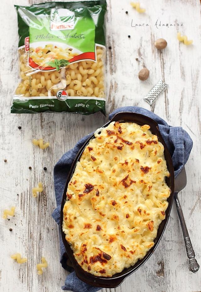 Melci ondulati mac and cheese detaliu