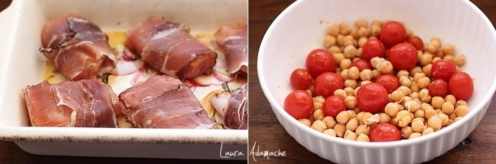 Piept de pui la cuptor cu naut si rosii Sunfood preparare