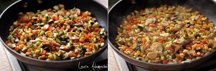 Spirale integrale cu legume detaliu preparare