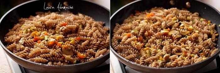 Spirale integrale cu legume preparare