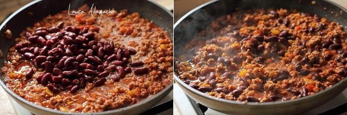 Chili con carne preparare
