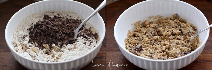 Tarta biscuit cu ciocolata detaliu preparare