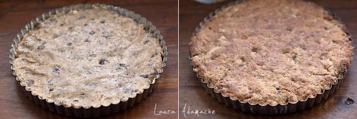 Tarta biscuit cu ciocolata detaliu coacere