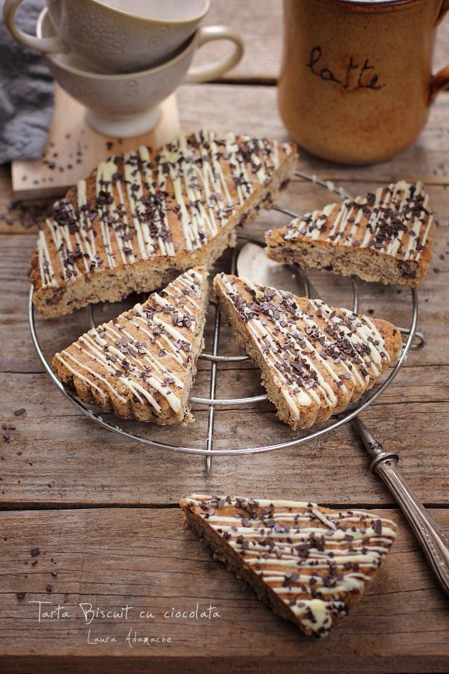 Tarta biscuit cu ciocolata felii