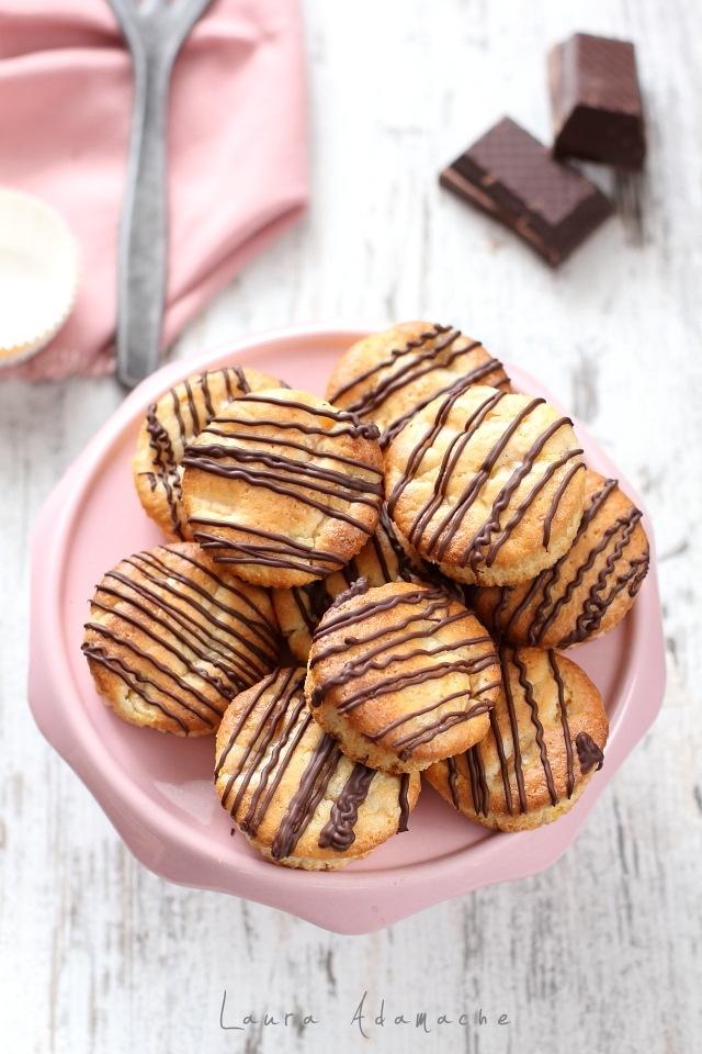 Muffins de post cu piersici detaliu