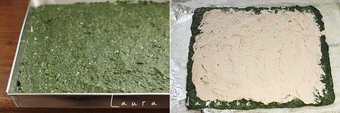 Rulada de spanac cu crema de ton preparare si asamblare