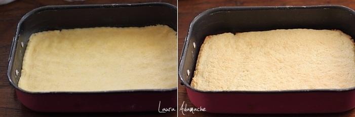 Prajitura cu mere si bezea preparare aluat fraged