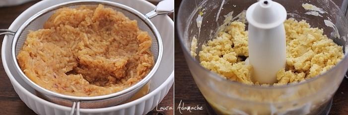 Prajitura cu mere si bezea detaliu preparare