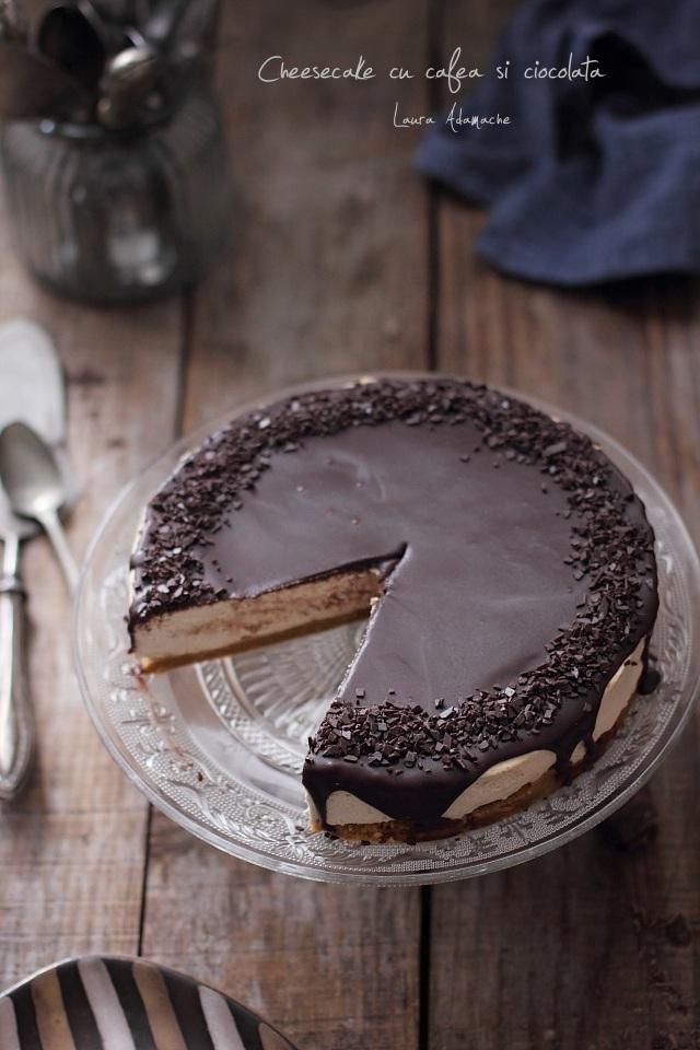 Cheesecake cu cafea si ciocolata detaliu