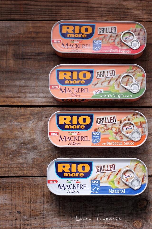 Risotto cu macrou si ciuperci detaliu conserve RIO Mare