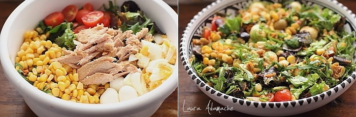 Salata de primavara cu ton detaliu preparare