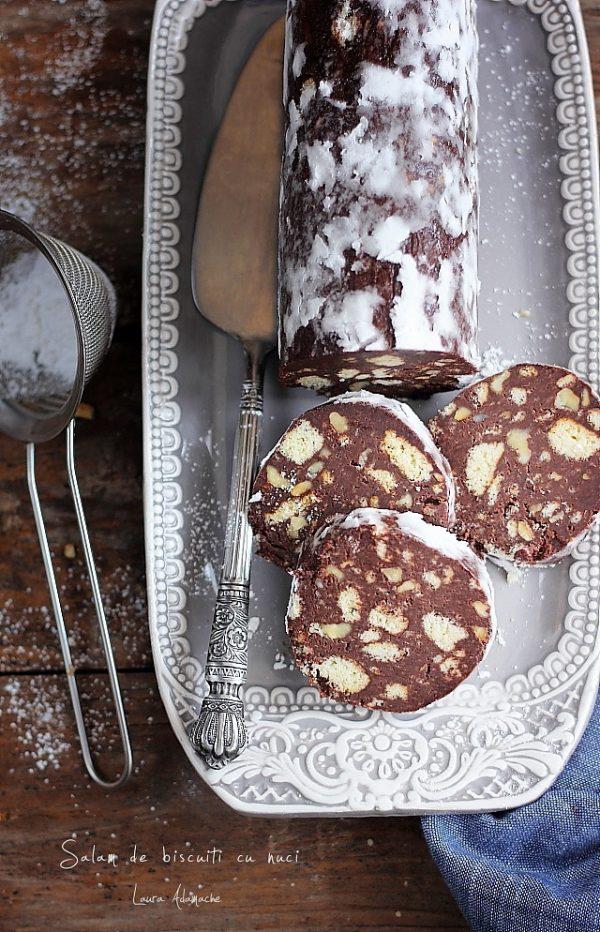 Salam de biscuiti cu nuci si mascarpone