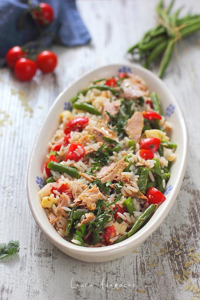 Salata de orez cu ton Lotka detaliu