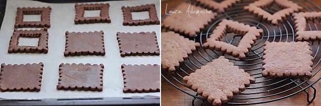 Biscuiti de ciocolata cu gem de cirese detaliu preparare