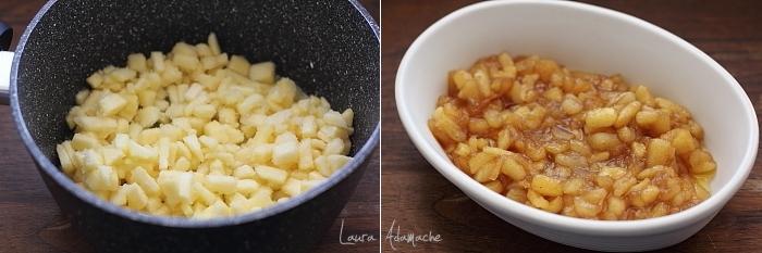 Biscuiti cu mere detaliu preparare umplutura de mere